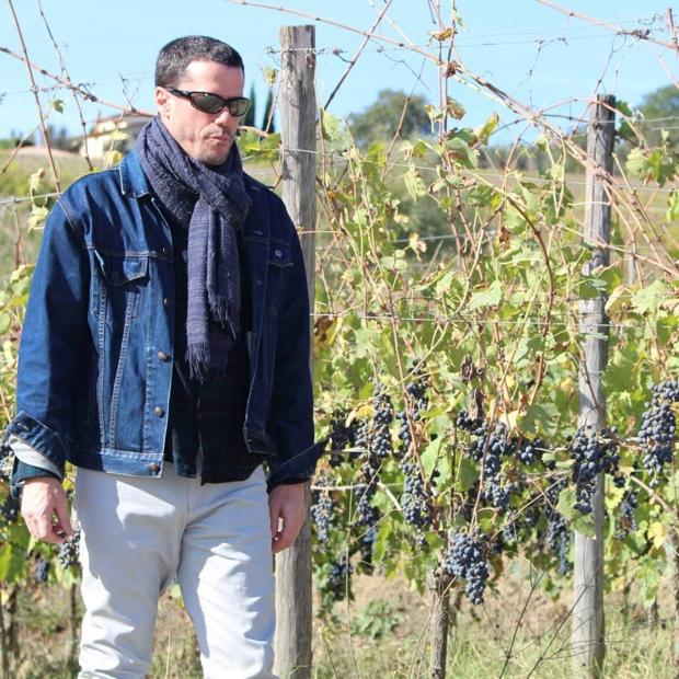 The author Godello in Radda in Chianti